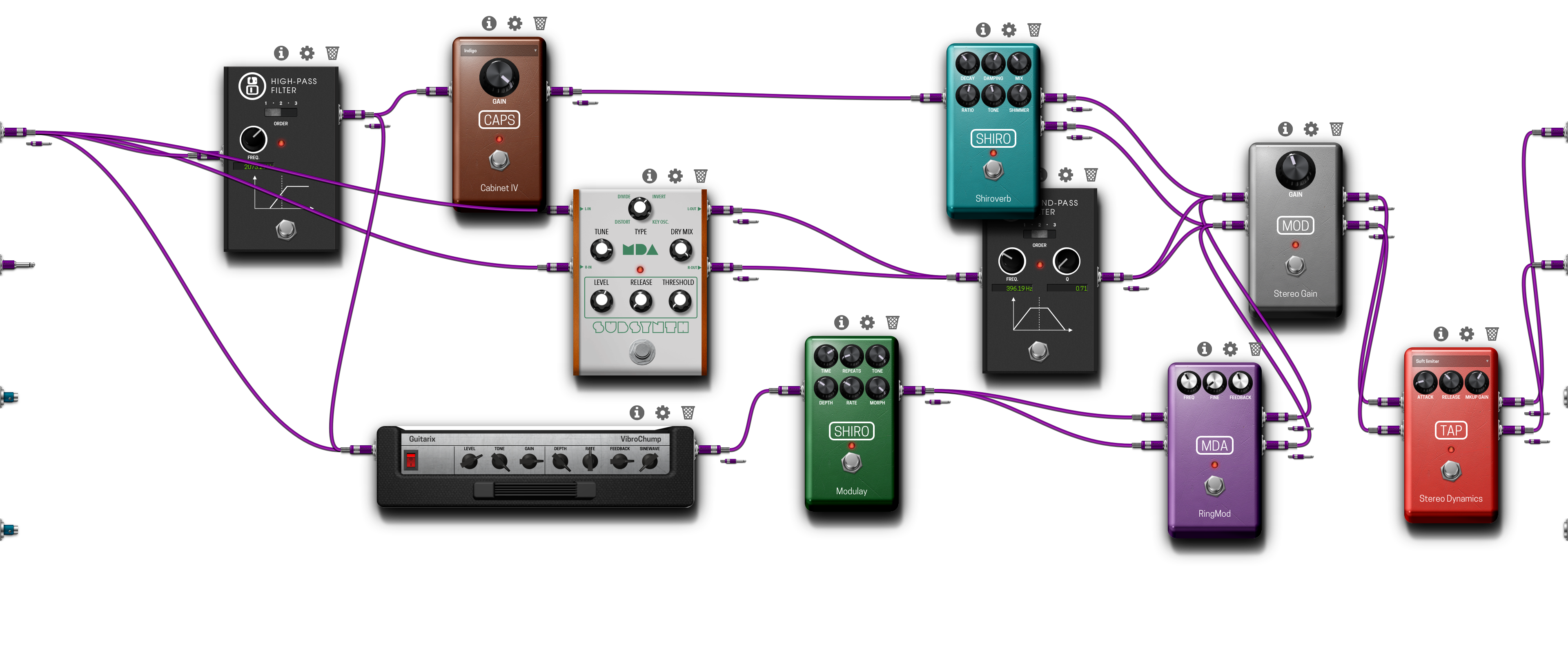 Pedalboard screenshot